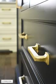 brass and black kitchen cabinet hardware new brass hardware pulls and faucet citrineliving