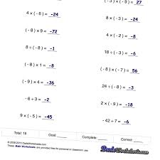 adding negative and positive numbers worksheet worksheets with simple problems that introduce negative numbers