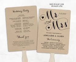 cheap wedding programs printable wedding program template fan wedding program cheap diy