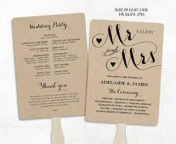 cheap ceremony programs printable wedding program template fan wedding program cheap diy