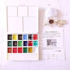 aliexpress com buy japan watercolor set paint with 18 colors