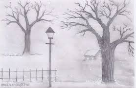 landscaping drawing pencil ideas easy pencil sketches of