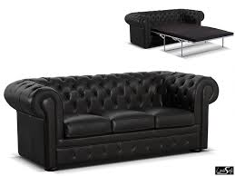 canapé chesterfield noir canapé chesterfield 3 places convertible 100 cuir londres cuir