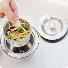 STEEL KITCHEN SINK WASTE STRAINER WITH FILTER BASKET - Kitchen sink waste strainer