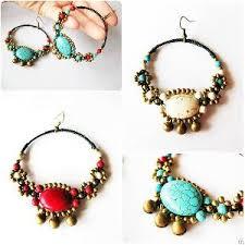 thailand earrings boho earrings jingle bells bead handmade jewelry thailand