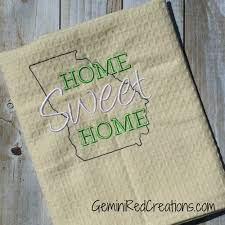 custom home sweet home embroidered kitchen towels