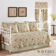 Daybed Comforters Felicite Reversible Jacobean Floral Quilted Daybed Bedding Set By