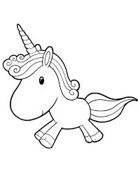 cartoon unicorn coloring page u0026 coloring book