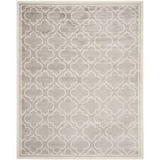 Safavieh Indoor Outdoor Rugs Safavieh Amherst Light Gray Ivory 10 Ft X 14 Ft Indoor Outdoor