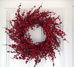 berry wreath flora decor berry wreath 24 home kitchen