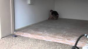 Laminate Floor Edging Tapping Up Garage Floor Edge To Prevent Over Runs With The Epoxy