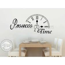 Dining Room Wall Quotes Prosecco Time Kitchen Dining Room Wall Sticker Fun Quote Decor Decal