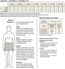 carhartt men u0027s shirts and outerwear size chart