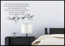 bedroom wall quotes bob marley quote wall sticker bedroom room decal mural transfer
