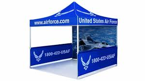 9x9 Canopy by Airborne Visuals Portable Outdoor Full Color Dye Sub Canopy Tent