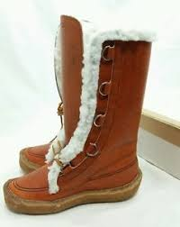 s shearling boots canada womens vintage cabelas shearling sherpa mukluks boots brown