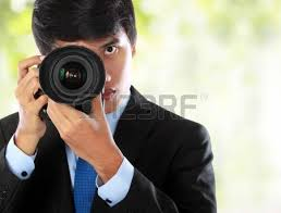 Professional Photographer Professional Photographer Isolated On White Stock Photo Picture