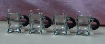 4 bodum chambord espresso coffee mugs cups w metal rack holder