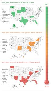 State Income Tax Map by 2015 U0027s Most U0026 Least Fair State Tax Systems Wallethub