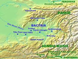 Southwest And Central Asia Map by Bactria Or Bactriana Was The Name Of A Historical Region In