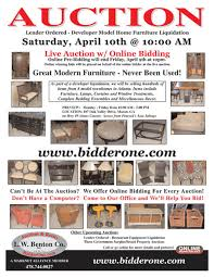 Model Home Furniture Auction Never Been Used - Home furniture auctions