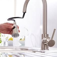 premier brushed steel pull out kitchen mixer tap