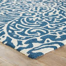 Blue And White Area Rugs Jayda Indoor Outdoor Floral Blue White Area Rug 5 X 7 6 5