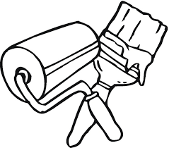 tools to color pictures painting coloring page craft items