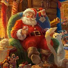 lighted santa s workshop advent calendar santa s workshop limited edition art the thomas kinkade company