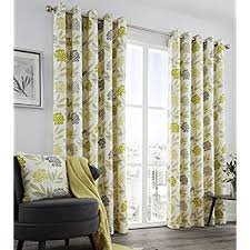 Grey Curtains 90 X 90 Lined Eyelet Curtains 90 X 90 Lime Green Yellow Charcoal