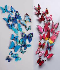 24pcs 3d butterfly wall sticker fridge magnets blue and hotpink 24pcs 3d butterfly wall sticker fridge magnets blue and hotpink lazada malaysia