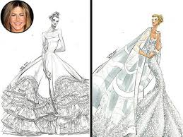 reem acra sketches gowns for jennifer aniston