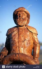 australia lakes entrance wood carvings along the stock