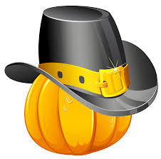 thanksgiving pumpkin with pilgrim hat png clipart gallery