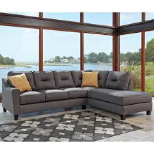 Laf Sofa Sectional Benchcraft Kirwin Nuvella 2 Pc Laf Sofa Sectional Contemporary