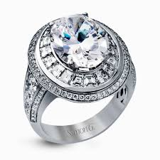 engagement rings dallas 18k white gold engagement ring with square baquette cut halo