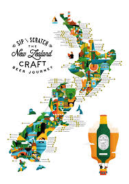 zealand on map scratch and taste a premium map of zealand s