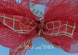 ribbon with wire how to make a deco mesh bow photo tutorial time with thea