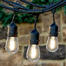 Led Bulbs For Outdoor Lighting by Newhouse Lighting 48 Foot Outdoor String Lights Led Bulbs Included