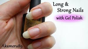 how to strengthen your nails with gel polish shellac youtube