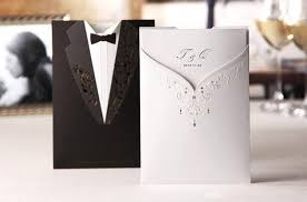 cheap new style groom wedding invitation cards black and