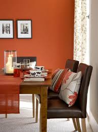 Dark Red Dining Room by Color Of The Month April 2014 Celosia Orange Orange Walls