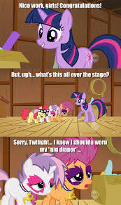 Diaper Meme - gig diaper my little pony friendship is magic know your meme