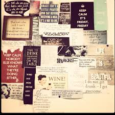 College Dorm Room Rules - quotes collage on dorm room wall to live by pinterest dorm