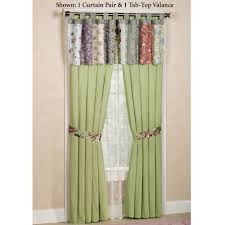 Tab Top Button Curtains Blooming Prairie Tab Top Valance Or Curtains