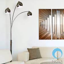Arc Floor Lamp Nova Triplet Nova Triplet 3 Light Arc Floor Lamp