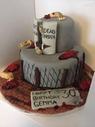 walking dead cake ideas walking dead 30th birthday cake hayleys bakes creative ideas for