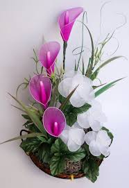Calla Lily Flower Delivery - fuchsia calla lilies with white flowers arrangement by jjnko