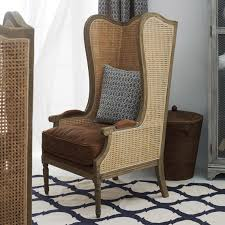 high back wing armchairs deauville high back wing armchair oka