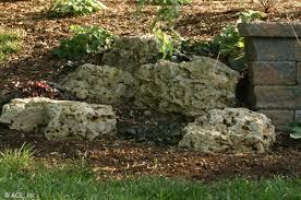 boulders stone landscape design outdoor living